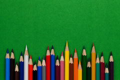 Pencil and pastel. Drawing supplies, pencil and pastel Stock Images