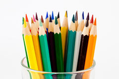 Pencil and pastel. Drawing supplies, pencil and pastel Stock Image