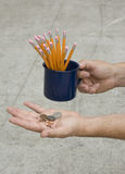 Pencil Peddler Stock Image