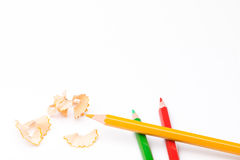 Pencil with peel for school Royalty Free Stock Image