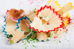 Pencil peels Stock Images