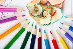 Pencil peels Royalty Free Stock Image