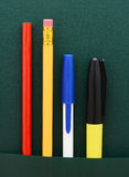 Pencil and Pen Assortment Royalty Free Stock Images