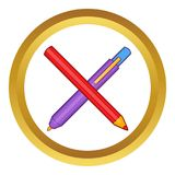 Pencil and pen icon vector illustration