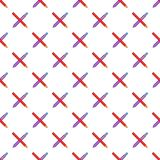 Pencil and pen pattern, cartoon style Stock Images