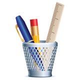 Pencil, pen, ruler Royalty Free Stock Photo