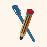 Pencil and pen theme elements Stock Photos