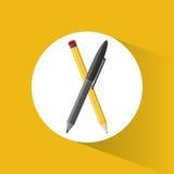 Pencil pen utensils school Stock Image