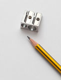 Pencil and pencil sharperner Royalty Free Stock Photography