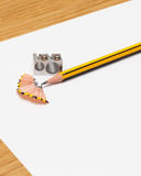 Pencil and pencil sharperner Royalty Free Stock Photos