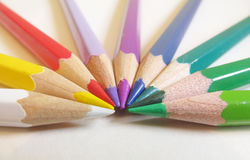 Pencil. S collected in the form of a rainbow Royalty Free Stock Image