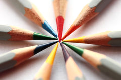 Pencil. Photographed colored pencils on paper Royalty Free Stock Photo