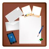Pencil and Picture Frame Stock Photography