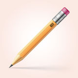 Pencil with pink eraser Royalty Free Stock Photo