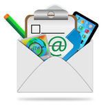 Objects in the envelope Royalty Free Stock Image
