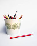 Pencil in a pot Stock Image