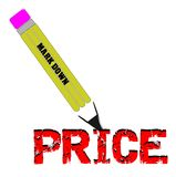 Pencil price markdown Stock Photography