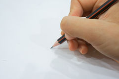 Pencil. On pure white background Stock Photo