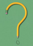 Pencil Question Stock Image