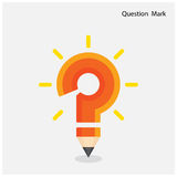 Pencil question mark on background. Stock Image