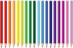 Pencil Rainbow Stock Image