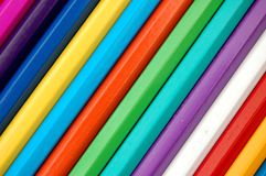 Pencil rainbow royalty free stock image