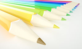 Pencil Rainbow Royalty Free Stock Images