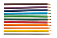 Pencil rainbow. Colored Pencils red blue green yellow orange royalty free stock photo
