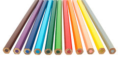 Pencil rainbow. Colored Pencils red blue green yellow orange royalty free stock photography