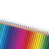 Pencil rainbow Stock Images