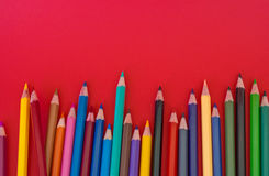 Pencil red background Royalty Free Stock Photo