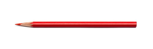 Pencil red isolated Stock Photos
