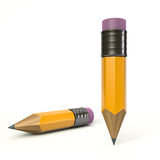 Pencil. Render of a pencil on white background Royalty Free Stock Photography