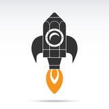 Pencil rocket icon. Vector illustration Royalty Free Stock Image