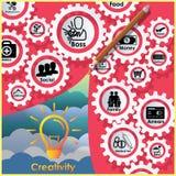 Pencil rocket Royalty Free Stock Image