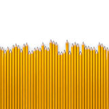 Pencil row background. 3D render of very long pencils Royalty Free Stock Photo