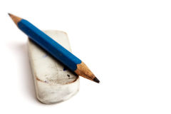Pencil and rubber Stock Images