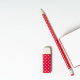 Pencil, rubber and memo pages Royalty Free Stock Photos