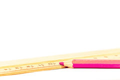 Pencil and rule Stock Image