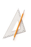 Pencil and ruler Stock Photos
