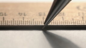 Pencil and ruler stock video