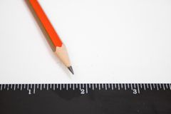 Pencil and ruller Stock Image