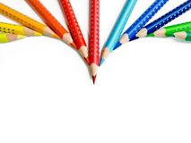 Pencil's arrow royalty free stock photos