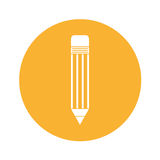 Pencil school isolated icon Stock Images