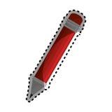 Pencil school supply icon Royalty Free Stock Photo