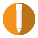 Pencil school utensil wood shadow Royalty Free Stock Photos