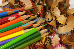 Pencil and scraps Stock Photo
