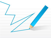 Pencil and script illustration design Royalty Free Stock Image