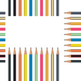 Pencil Seamless Pattern. Vector Royalty Free Stock Photography