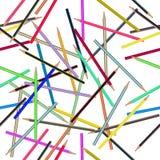 Pencil Seamless Pattern. Vector Stock Photo